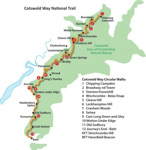 Cotswold Way route